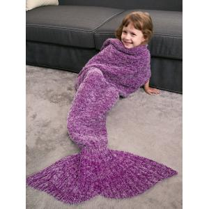 Kids' Crochet Knitted Faux Mohair Mermaid Blanket Throw