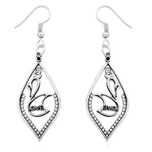 Swan Love Drop Earrings