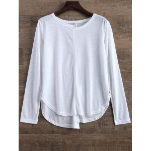 Asymmetric Slit Fitting T-Shirt