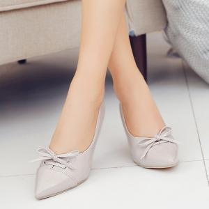 Pointed Toe Bowknot Pumps -