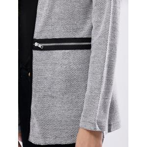Zipper Open Front Cardigan -