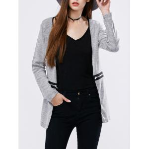 Zipper Open Front Cardigan