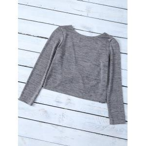 Long Sleeve Heathered Twist T-Shirt -