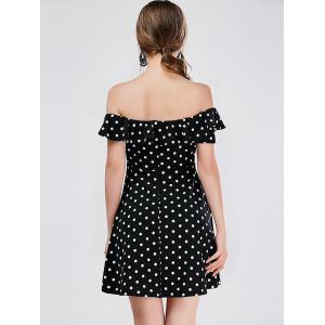 Polka Dot Mini Off The Shoulder Vestido Skater Dress -