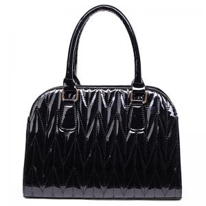 Embossed Stitching Tote Bag -