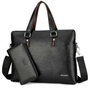 PU Leather Briefcase With Wallet