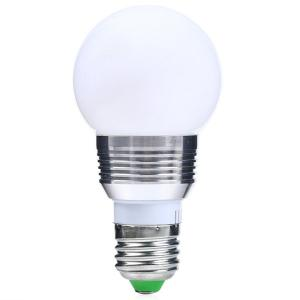 Color Change Lampada Romote Control RGB LED E27 Bulb - SILVER WHITE