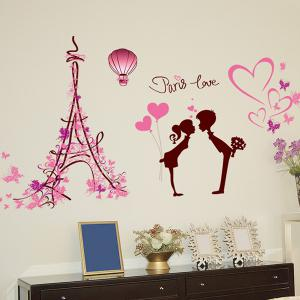 Romantic Paris Love Removable Wall Stickers -