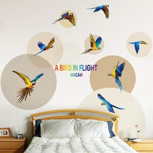 Parrot Bird DIY Wall Stickers Animals For Living Room -