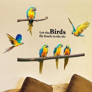 Removable Parrot Bird DIY Wall Stickers -