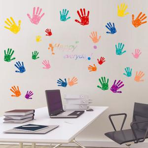 Vinyl Hands Pattern Home Decor Wall Art Stickers