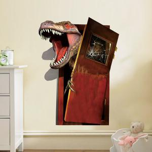 3D Dinosaur Flee Removable PVC Wall Stickers - Colormix - 50*70cm