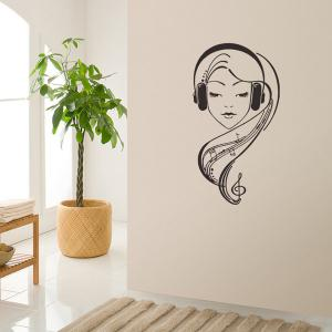 Girl Figure Removable Abstract Decals Wall Stickers