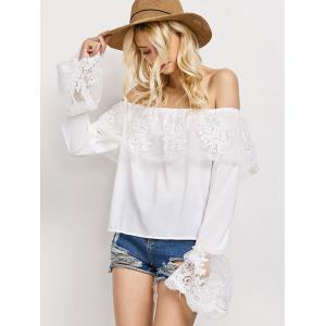 Off The Shoulder Lace Ruffle Top