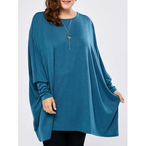 Plus Size Batwing Asymmetric Long Sleeve Tee