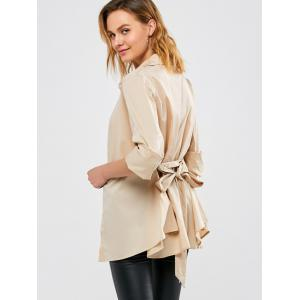 Belted Open Front Coat -