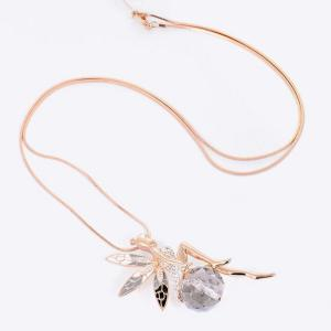 Rhinestone Fairy Sweater Chain - GOLDEN