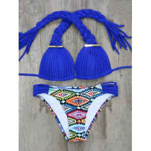 Braided Argyle Bikini Set
