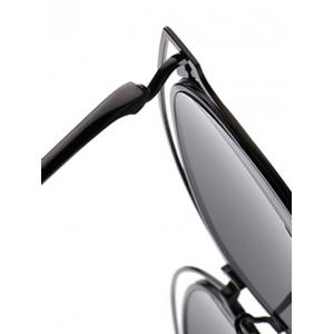 Double Rims Hollow Out Cat Eye Sunglasses -