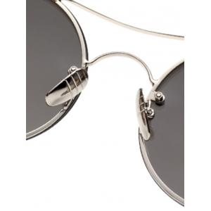 Metal Chunky Round Frame Sunglasses -
