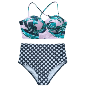 Cami Polka Dot Push Up Bikini Set -