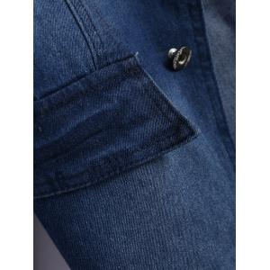 Lapel Jean Two Button Design Jacket -