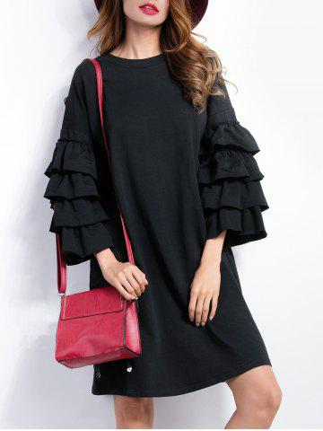 Outfits Layered Sleeve Loose Dress