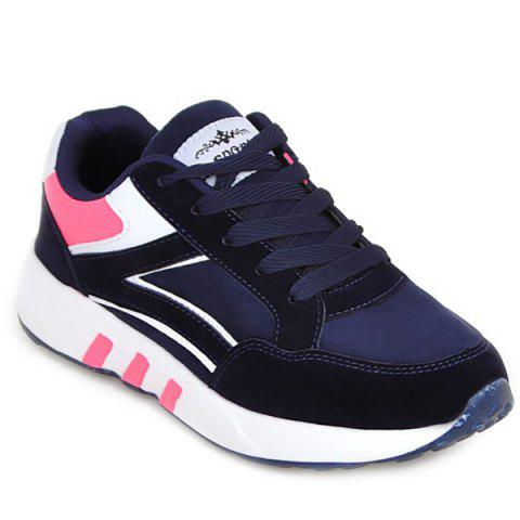 Cheap Suede Color Block Athletic Shoes