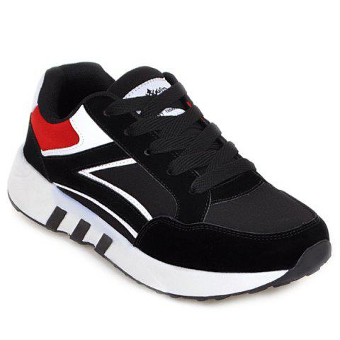 Outfits Suede Color Block Athletic Shoes