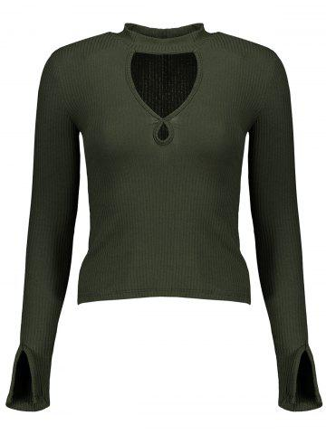 Affordable Ribbed Cut Out Knitwear