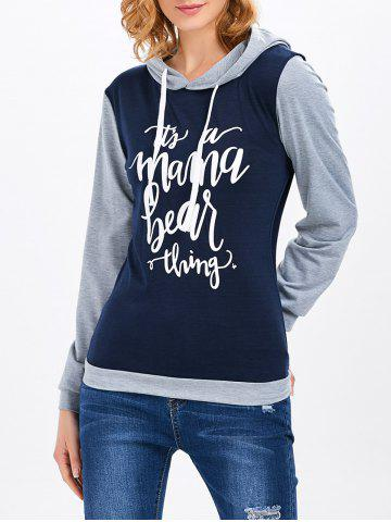Chic Letter Color Block Hoodie
