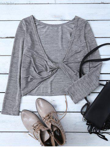 Latest Long Sleeve Heathered Twist T-Shirt