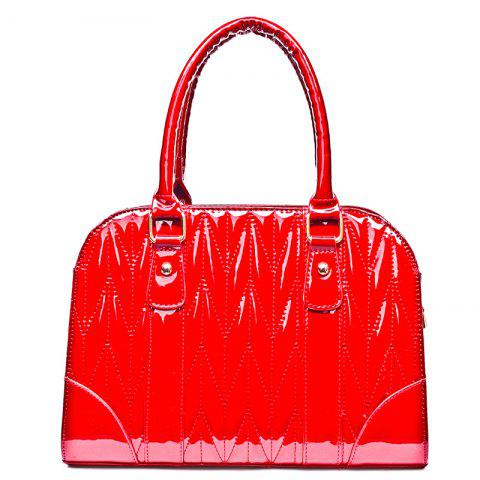 Chic Embossed Stitching Tote Bag