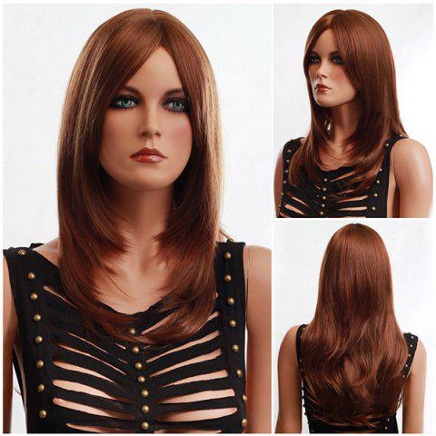Store Long Side Parting Fluffy Slightly Curled Synthetic Wig