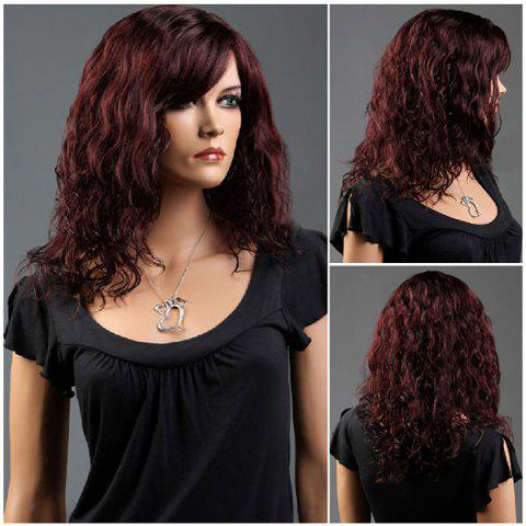 Hot Long Side Bang Curly Fluffy Synthetic Wig