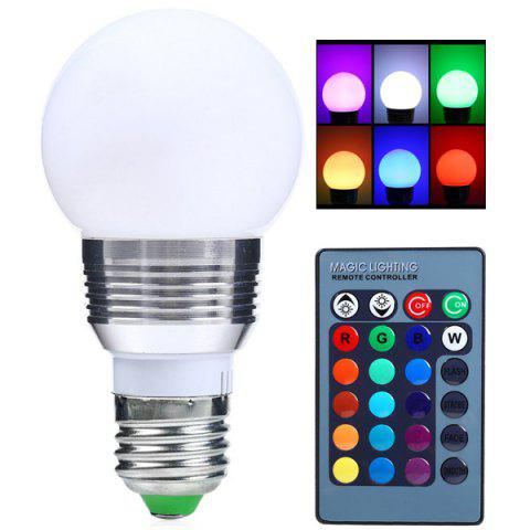 Fashion Color Change Lampada Romote Control RGB LED E27 Bulb SILVER WHITE