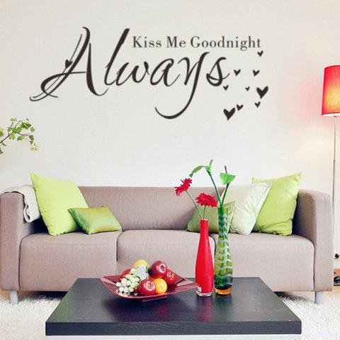 Outfits English Quote Removable Room Decor Wall Stickers - BLACK  Mobile