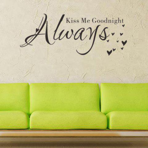 Store English Quote Removable Room Decor Wall Stickers - BLACK  Mobile