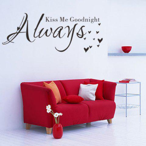 New English Quote Removable Room Decor Wall Stickers - BLACK  Mobile