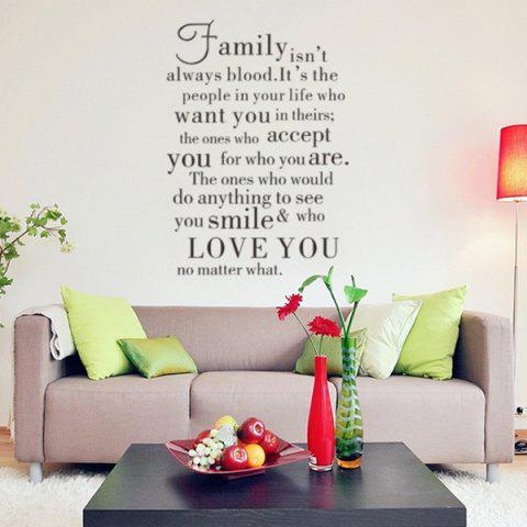Shops English Proverb Removable Living Room Vinyl Wall Stickers Custom - BLACK  Mobile