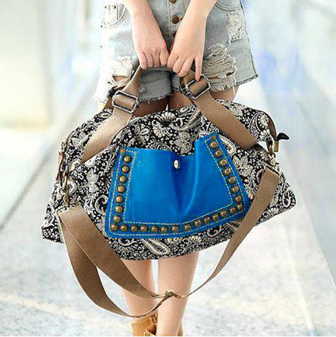 Discount Ethnic Style Rivets and Splice Design Women's Tote Bag