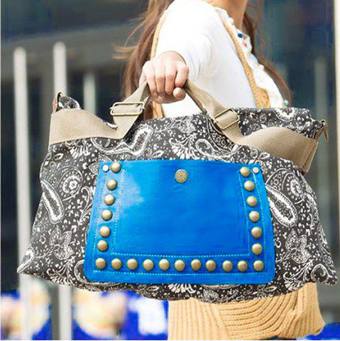 Fancy Ethnic Style Rivets and Splice Design Women's Tote Bag - COLORMIX  Mobile