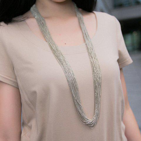 Affordable Vintage Sweater Chain - SILVER  Mobile