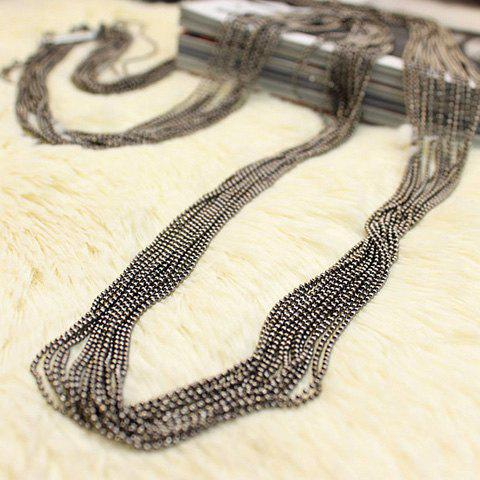 Trendy Vintage Sweater Chain - BLACK  Mobile