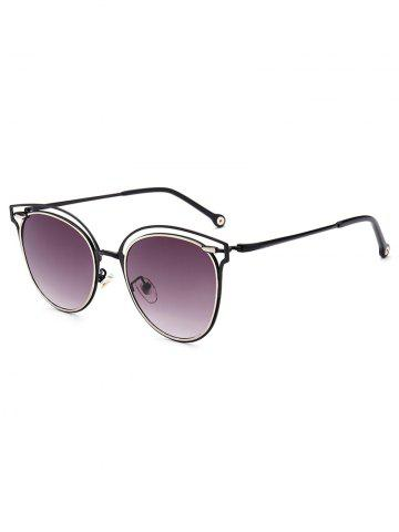 Outfit Double Rims Hollow Out Cat Eye Sunglasses