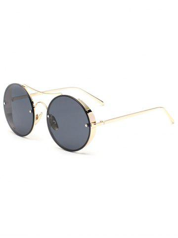 Outfit Metal Chunky Round Frame Sunglasses