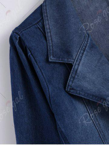 Store Lapel Jean Two Button Design Jacket - 2XL DENIM BLUE Mobile