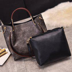 PU Leather Handbag Crossbody Bag Set -