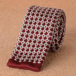 Dot Pattern Wide Knitted Neck Tie -