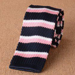 Striped Knitted Neck Tie